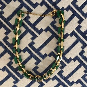 JCrew green/gold necklace. Offers welcome